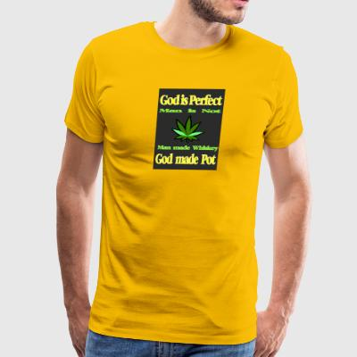 God made Pot - Men's Premium T-Shirt
