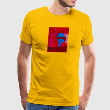 Blue Oliver red chair - Men's Premium T-Shirt