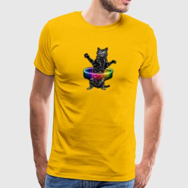 HULA HOOP CAT - Men's Premium T-Shirt