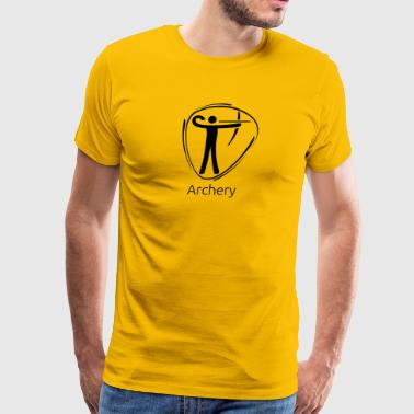 Archery_black - Men's Premium T-Shirt