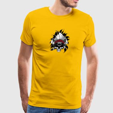 Indian Skull Head - Men's Premium T-Shirt