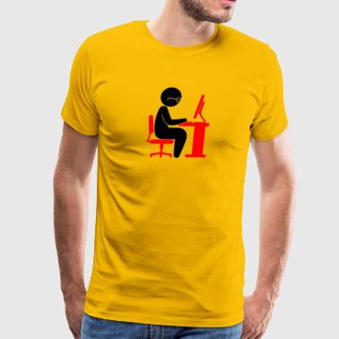 A Programmer In Front Of His Computer - Men's Premium T-Shirt