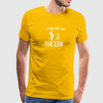 Father and son riding partners for life shirt - Men's Premium T-Shirt
