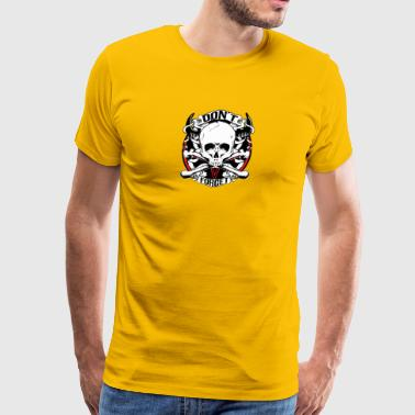 Skull bones inscription vector drawing image cool - Men's Premium T-Shirt