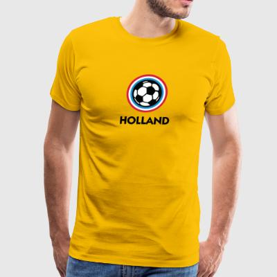 Holland Football Emblem - Men's Premium T-Shirt