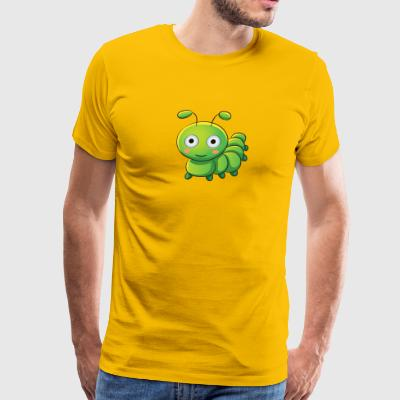 caterpillar insect vector cartoon children image - Men's Premium T-Shirt