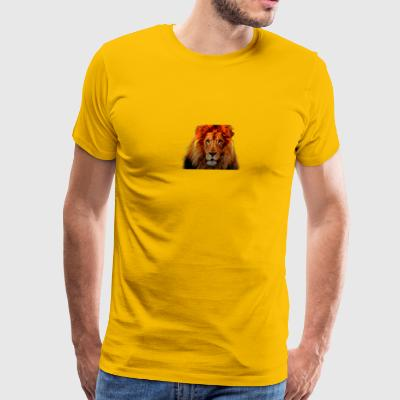 Posterized Lion Design - Men's Premium T-Shirt