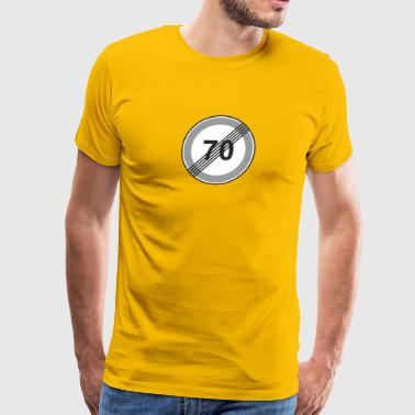 Road_Sign_70_restriction - Men's Premium T-Shirt