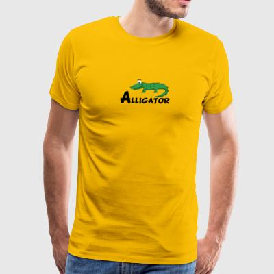 Cartoon Alligator - Men's Premium T-Shirt