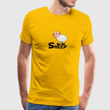 Cartoon Sheep - Men's Premium T-Shirt