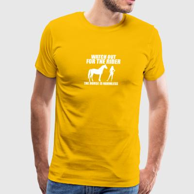 Horse Rider - Watch out - Men's Premium T-Shirt
