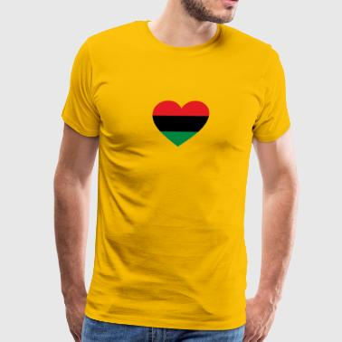 Pan-African History Flag Love Heart Symbol - Men's Premium T-Shirt