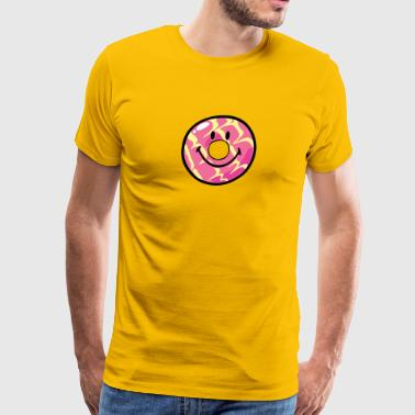 SmileyWorld Donut Vanilla Ripple - Men's Premium T-Shirt