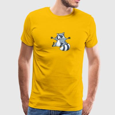 raccoon-animal-wildlife-smile - Men's Premium T-Shirt