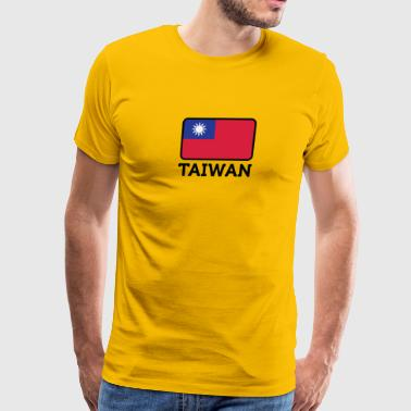 National Flag Of Taiwan - Men's Premium T-Shirt