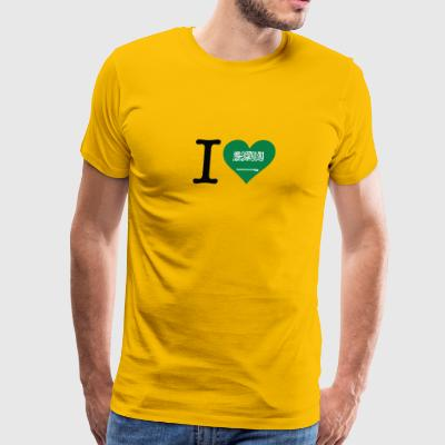 I Love Saudi Arabia - Men's Premium T-Shirt
