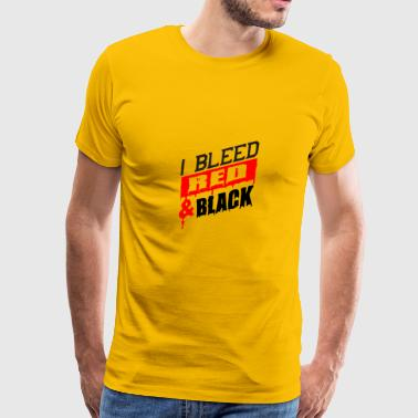 i bleed red and black - Men's Premium T-Shirt