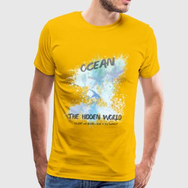 Ocean The Hidden World Surf Wherever You Want - Men's Premium T-Shirt