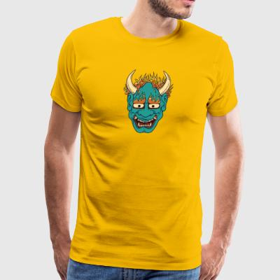 demon_with_burning_hairs - Men's Premium T-Shirt