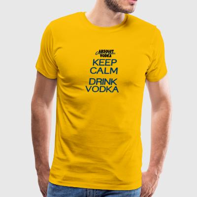 Keep calm drink vodka - Men's Premium T-Shirt