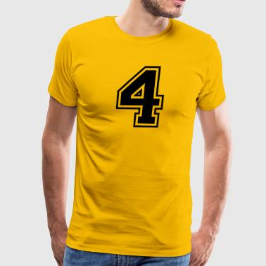 Number 4 college style - Men's Premium T-Shirt