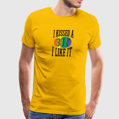Gay t shirts I kissed a boy and i liked it - Men's Premium T-Shirt