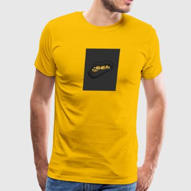 gold teeth grill - Men's Premium T-Shirt