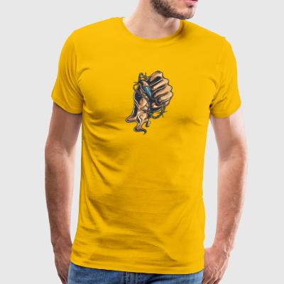 demon_hand_with_wire - Men's Premium T-Shirt