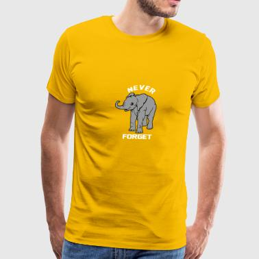 Baby Elephant Never Forgets - Men's Premium T-Shirt