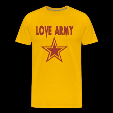 love army Funny love - Men's Premium T-Shirt
