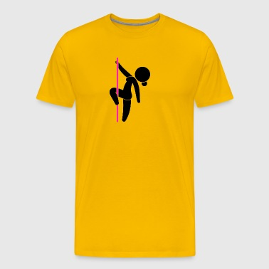 A Stripper Dancing On A Pole - Men's Premium T-Shirt