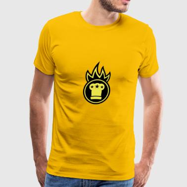 Chef's hat on fire - Men's Premium T-Shirt