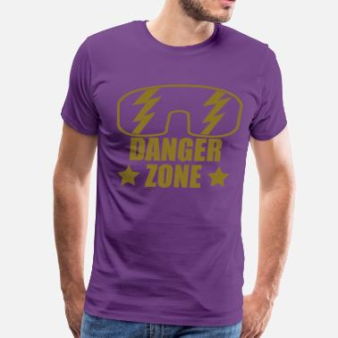 Macho dangerzone_forblack - Men's Premium T-Shirt