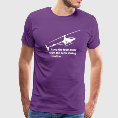 helicopter rotor warning - Men's Premium T-Shirt