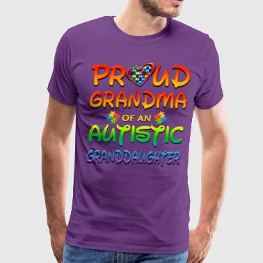 Autism Awareness Proud Grandma Of Granddaughter - Men's Premium T-Shirt