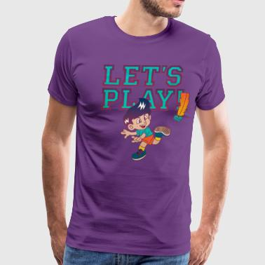 Let's Play Jianzi! - Men's Premium T-Shirt
