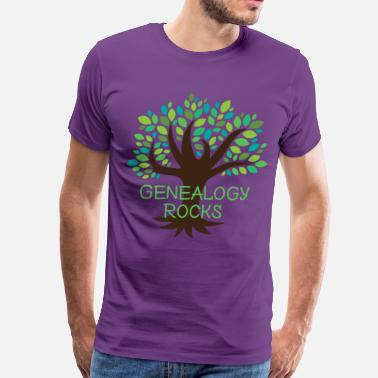 Genealogy Quotes Genealogy Rocks - Men's Premium T-Shirt