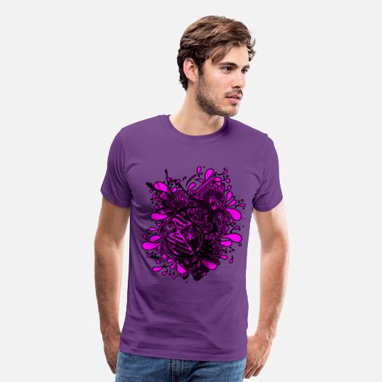 Crest T-Shirts - DRAGON_KILLER - Men's Premium T-Shirt purple