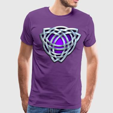 Purple Celtic Triquetra - Men's Premium T-Shirt