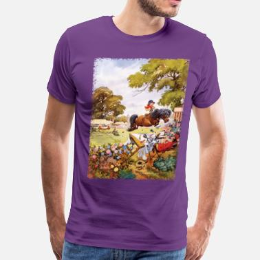 Norman Thelwell PonyTournament Thelwell Cartoon - Men's Premium T-Shirt