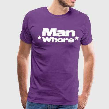 Slut Male man whore with stars - Men's Premium T-Shirt