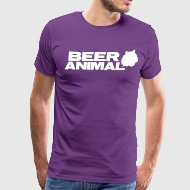 Slut Male beer animal  - Men's Premium T-Shirt