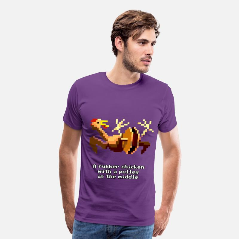 Adventure T-Shirts - Monkey Island - Chicken - Men's Premium T-Shirt purple