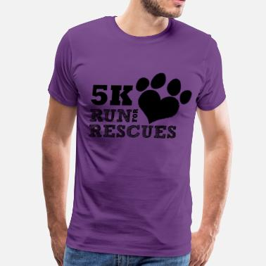 Charity Races Run Rescue - Men's Premium T-Shirt
