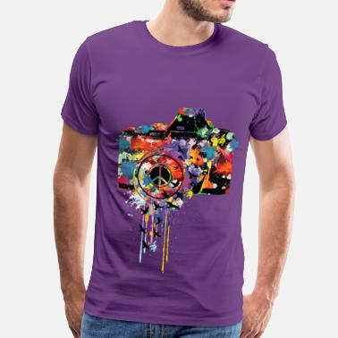 Birds Line Art Free Paint DSLR - Men's Premium T-Shirt