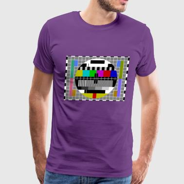 TV Test Pattern T-Shirt - Men's Premium T-Shirt