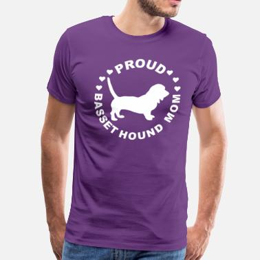 Proud Basset Hound Mom Basset Hound Mom Gift - Men's Premium T-Shirt