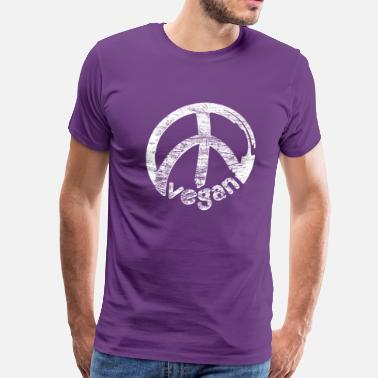 Political Compass vegan peace - Men's Premium T-Shirt