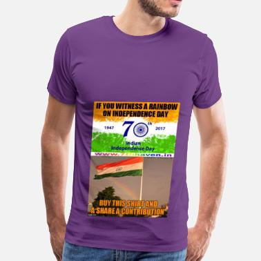 Us Independence Day Independence day 70th Independ day India t shirt - Men's Premium T-Shirt