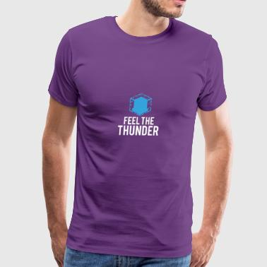 Feel The Thunder Logo Image - Men's Premium T-Shirt